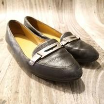 Coach Womens Ruthie A6790 Sz 7.5 Black Leather  Slip on Flats - $29.98