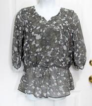New Sz M 8-10 FG Womens Grays Beige Camouflage Casual Thin Slip On Top B... - $13.50