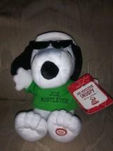 "Hallmark Peanuts Joe Mistletoe Snoopy Plush NWT Kiss Sounds Christmas 8""... - $24.75"