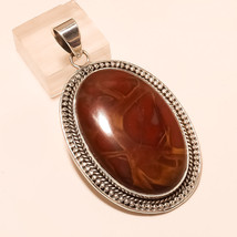 Mexican Mookaite Jasper Gem 925Sterling Silver Pendant Vintage Christmas Jewelry - $33.76