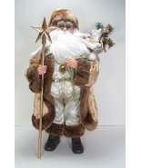 "18"" Kringle Klaus Gold and Ivory Santa Claus Figurine Kurt S. Adler Design - $85.09"