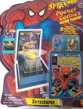 1994 Toy Biz Spiderman Pocket Comics Playset. Skyscraper with collectors... - $20.00
