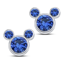 Blue Sapphire Women's Swirl Stud Earrings In 14k White Gold Over Pure 92... - $34.89