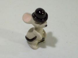 Vintage Hagen Renaker Miniature City Mouse Bowler Hat Figurine 1986 - $14.65