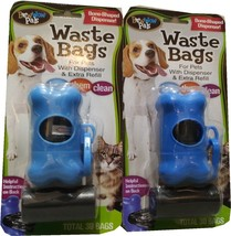 Lot of two Bow Wow Bone Shaped Waste Bag Dispensers with 60 bags - $8.99