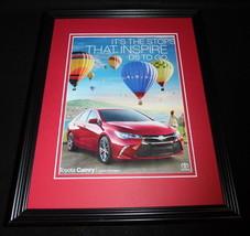 2016 Toyota Camry Framed 11x14 ORIGINAL Advertisement - $34.64