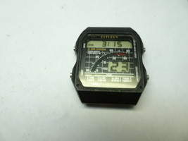 RARE 1985 D0-5136 CITIZEN DIGITAL ALARM CHRONOGRAPH WATCH RUNS GOOD COND... - $495.00