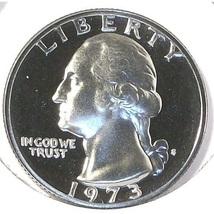 1973-S DCAM Proof Washington Quarter PF65 #520 - $3.99