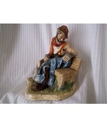 "VTG NATURECRAFT ""OLD TIMER"" FIGURINE # 800/ HAND PAINTED STONEWARE ENGLA... - $20.00"