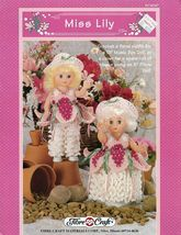 Miss Lily, Fibre Craft 13 inch Doll Clothes Crochet Pattern Booklet FCM347 - $4.95