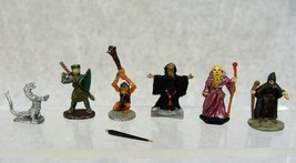 VINTAGE 1970'S DUNGEONS AND DRAGONS D&D MINIATURES RAL PARTHA WIZARDS & ... - $24.74