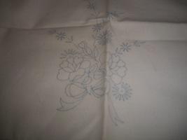 Stamped Dresser Scarf to Embroider - $7.00