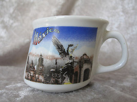 "SOUVENIR MINI MUG FROM MEXICO USE FOR CAPPUCCINO & EXPRESSO 2"" TALL - $6.69"