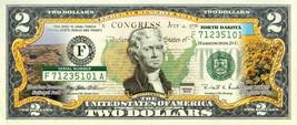NORTH DAKOTA State/Park COLORIZED Legal Tender U.S. $2 Bill w/Security F... - $14.95