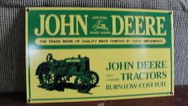 JOHN DEERE TRACTOR'S,2 CYLINDER TRACTOR PORCELAIN SIGN - $232.75