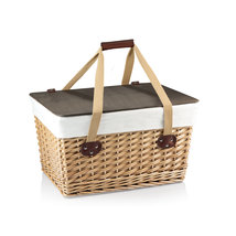 Large Flat Lid Picnic Basket with Liner and Rev... - $62.95