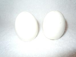Vintage White Simple Ceramic Egg Shape Salt & Pepper Shakers - $2.99