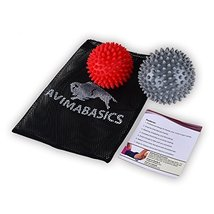 #1 BEST Spiky Massage Balls Reflexology Foot Body Arm Pain Stress Relief... - $18.95