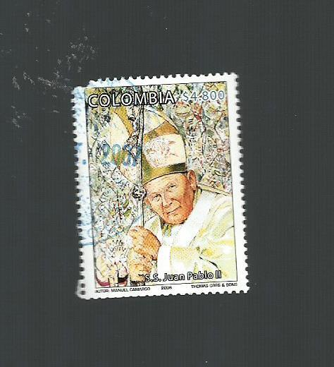Primary image for COLOMBIA  #  1260  * POPE JOHN  PAUL  II *