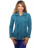 NEW JM Collection Long Sleeve Textured Zip Up Jacket - BLUE -  SZ S , M ... - $9.99+