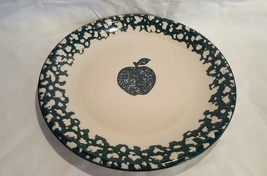 Tienshan Folk Craft APPLE Green Sponge Plate (s) 7.5 Inches excellent (8... - $2.69