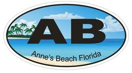 Anne's Beach Florida Oval Bumper Sticker or Helmet Sticker D1180 - $1.39+