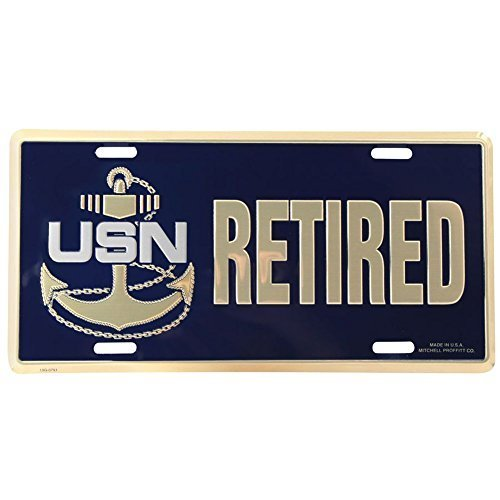 U.S. Navy Retired Chief Petty Officer License Plate