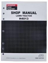 Honda H4013 Lawn Tractor Mower Service Repair Shop Manual - $200.00