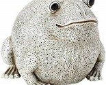 Statue of White Frog Made of Resin