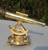 Nautical Sea Level Instrument Theodolite Survey Telescope & Alidede Comp... - $46.44