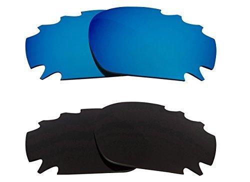 New SEEK OPTICS Replacement Lenses Oakley VENTED JAWBONE - Black Blue