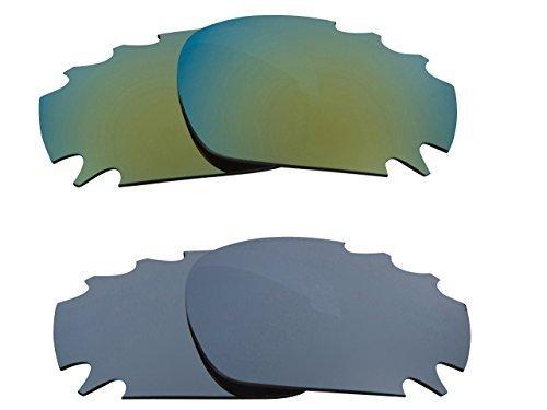 New SEEK Replacement Lenses Oakley Vented Racing Jacket - Black Green