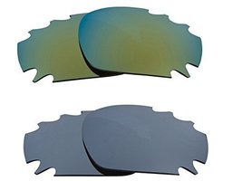 New SEEK Replacement Lenses Oakley Vented Racing Jacket - Black Green - $23.25