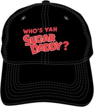 Who's Yah Sugar Daddy Candy Black Embroidered Dad Hat Baseball Cap BA018... - $19.95