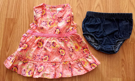 Girl's Size 6-9 M Months Two Piece Pink Floral Laced Cherokee Dress & De... - $9.00