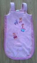 Girl's Size Small 6-9 M Months Pink Sleep Sack Animals On Train Embroidered - $12.00