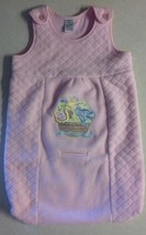 Girl's Size Small 3-6 M Months Pink Sleep Sack Noah's Ark Embroidered Ba... - $11.00