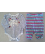 "Girl's Size 0-3 M Months 2 Pc Old Navy Outfit ""Mom's Natural Beauty"" Top... - $9.00"