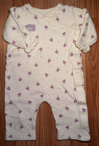 Girl's Size 6 M Months One Piece Carter's Cream Floral & Bunny Pants Romper - $9.00