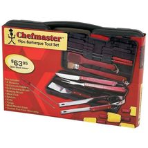 Chefmaster 19 Pc Barbeque Tool Set BBQ Brand New  - £18.17 GBP