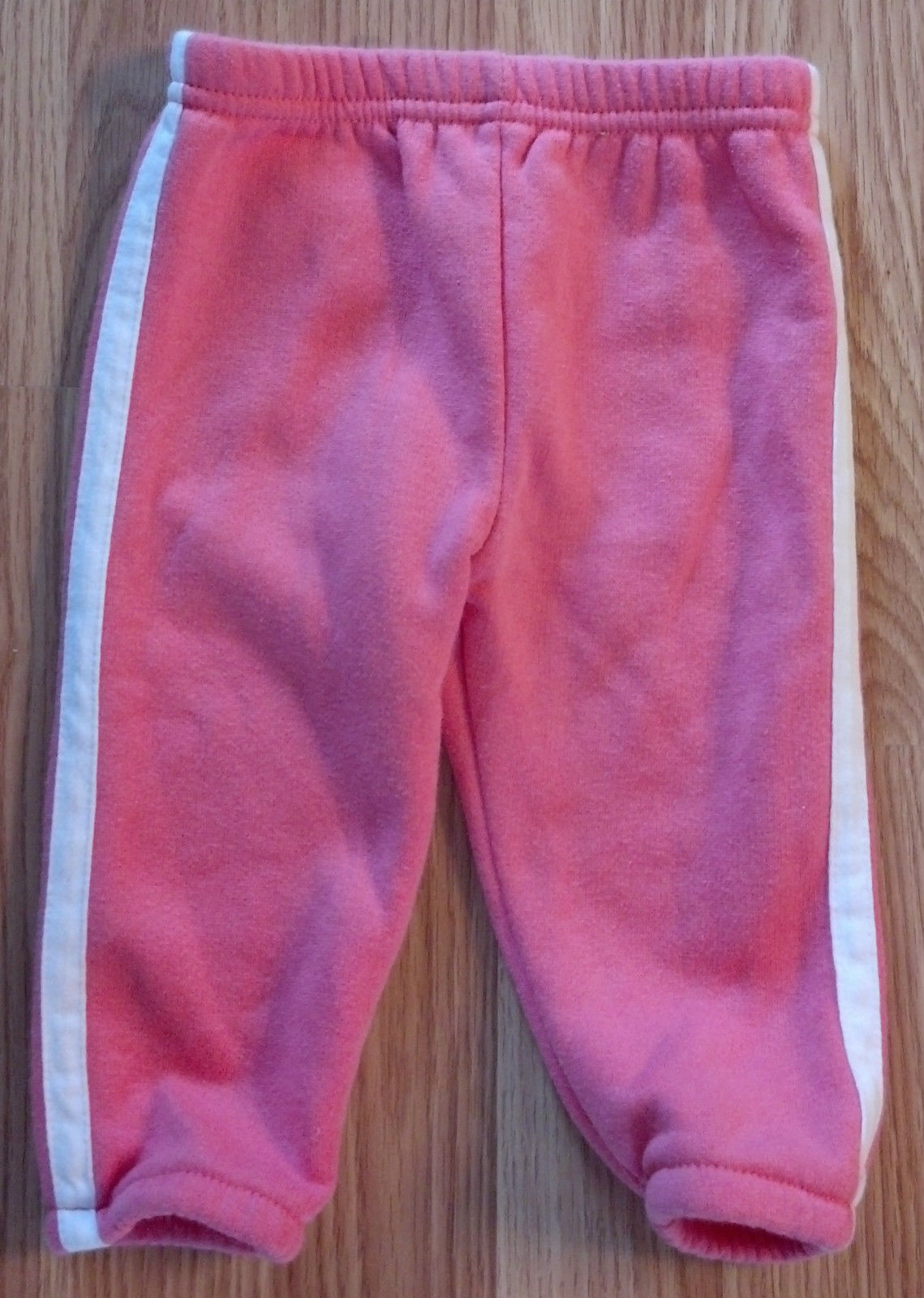 Girl's Size 3M Months 3 Piece Pink Carter's Fleece Jacket, White Top + Pants
