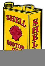Shell Oil Can Laser Cut Out Reproduction Metal Sign - $25.74