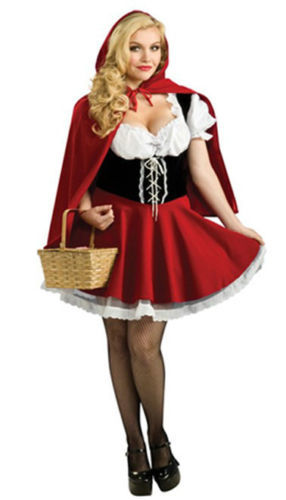 Little Red Riding Hood Sexy Women`s Female Fancy Dress Adult Size Outfit Costume