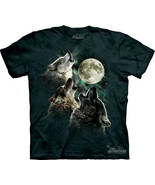 The Mountain Graphic printed Tee Three Wolf Moon T-shirt Size S, M, L, XL - $21.25