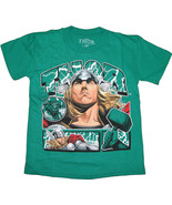 Thor Marvel Comics Boys Tee Kelly Green T-Shirt Juvy Size 100% cotton - $9.95+