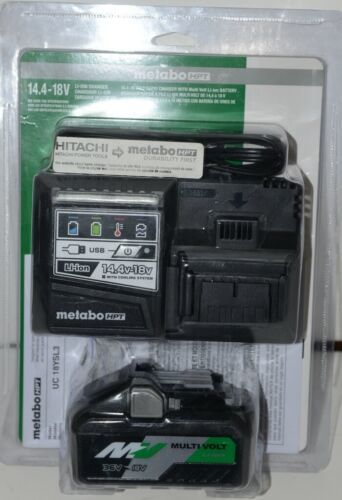 Metabo HPT UC18YSL3B1 14.4 18 Volt Rapid Charger with Multi Volt Li Ion Battery