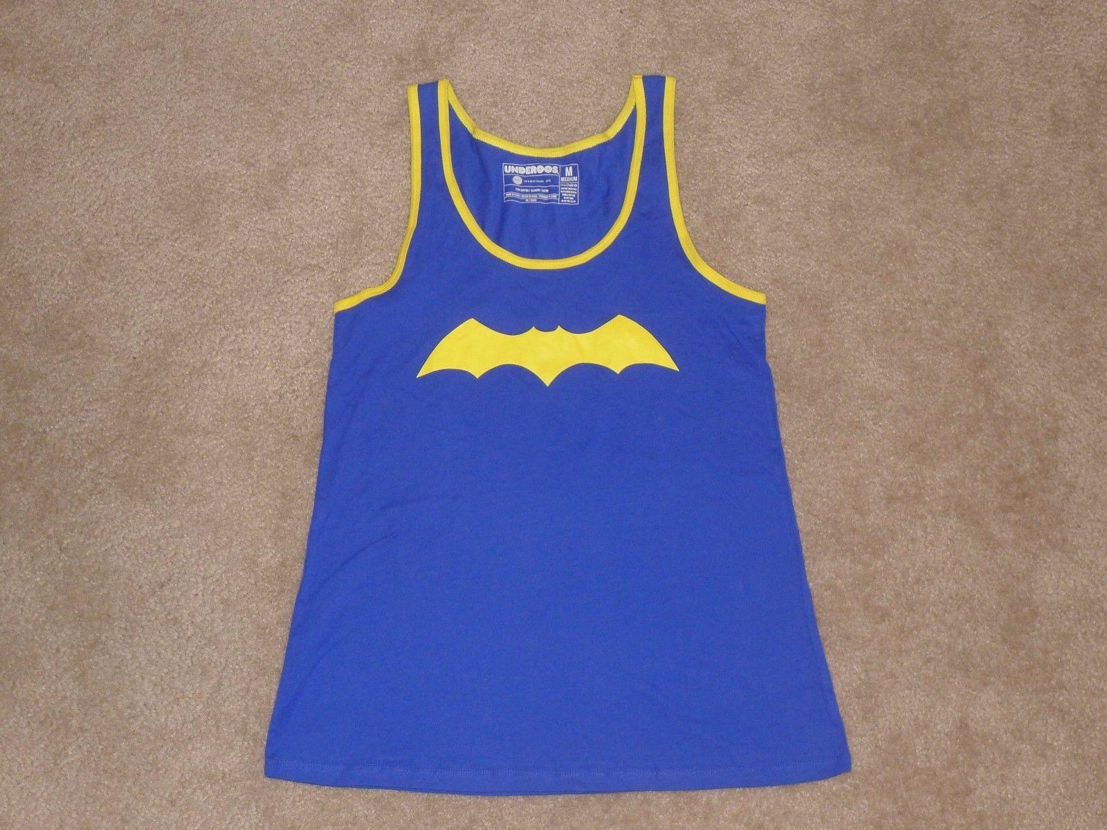 Batgirl Logo Batman DC Comics Licensed Women's Underoos Tank, Blue, Medium