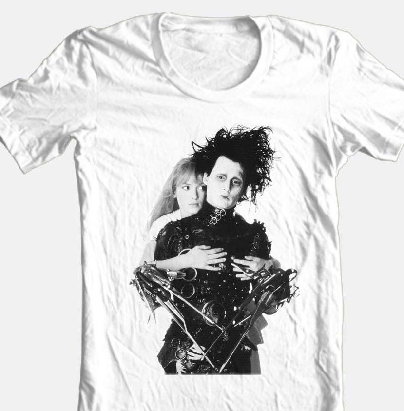 Edward scissorhands retro 90 s graphic tshirt johnny depp for sale online white graphic tee