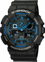 NEW Casio G-Shock GA100-1A2 Speed Indicator Black Dial Men's Watch - $76.73