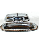 Beautiful Covered Silverplate Butter Dish With Knife Holder - $12.99